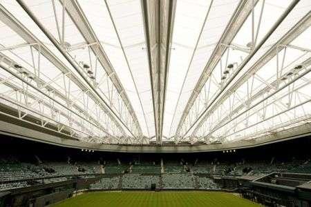 Wimbledon: tetto retrattile di materiale riciclato