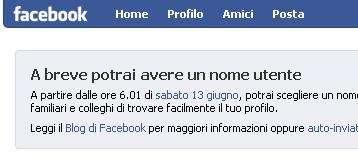 Facebook: Vanity Url personalizzate da domani
