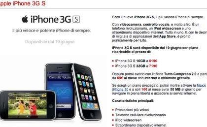 iPhone 3GS TIM: prezzi ridicolmente alti