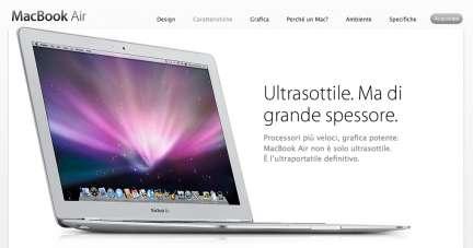 Macbook Air: ritoccati i prezzi
