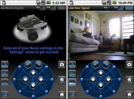 Android guida Robot Rovio