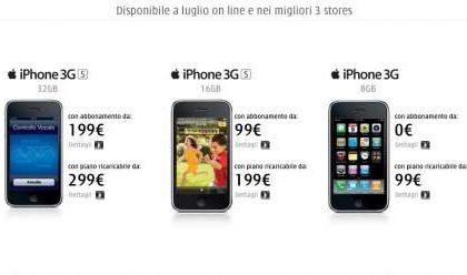 iPhone 3GS i prezzi di Tre H3G