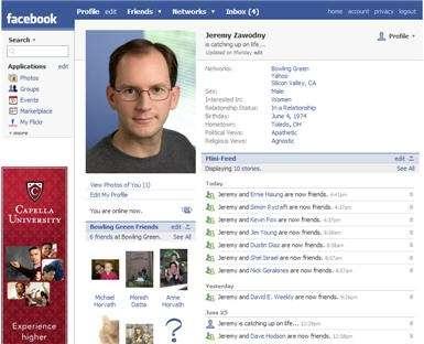 Facebook: si alza l'età media degli iscritti