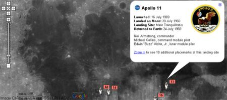 google moon apollo mode