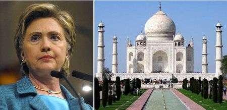 Hilary Clinton preferisce l'ecopalazzo al Taj Mahal