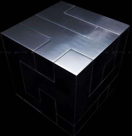 Mnemosyne: cubo flash USB in alluminio