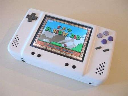 Supertendo: Super Nintendo Mod portatile