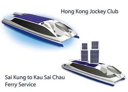 Traghetto solare a Hong Kong