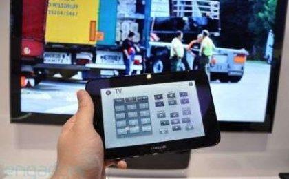 TV Samsung LED con tablet allegato