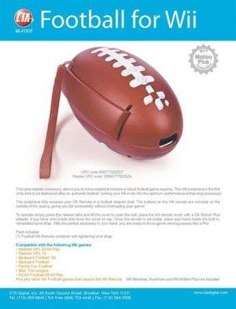 Accessori Wii: pallone da football