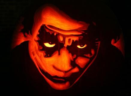heath ledger joker pumpkin face