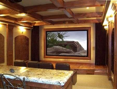 Home Cinema con schermo da 160 pollici