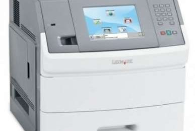 Stampante Lexmark T656dne con touchscreen