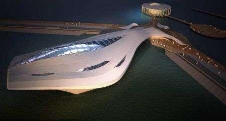 Edificio espositivo galleggiante
