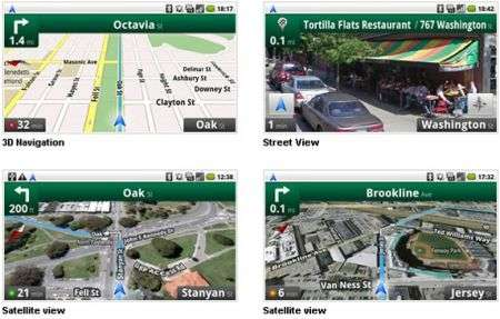 Google Maps Navigation Beta per Android 1.6