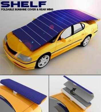 Shelf: tettuccio solare che protegge e ricarica