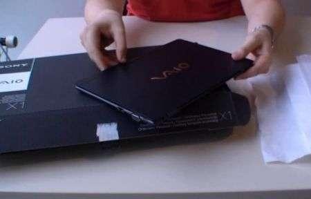 Netbook Sony VAIO X ecco l'unboxing
