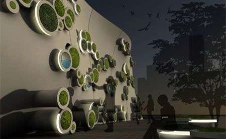 Symbiotic Green Wall ideale per cantieri