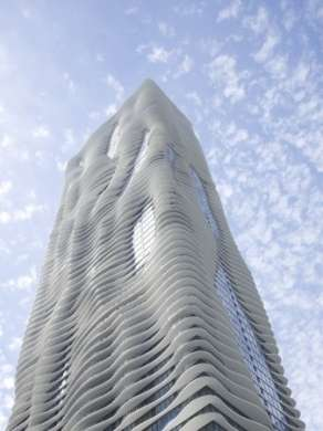 "Aqua Tower di Chicago: ispirata dalle ""torri"" calcaree"