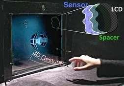 BiDi: schermo che capta i gesti