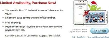 Camangi WebStation Android al pre-ordine