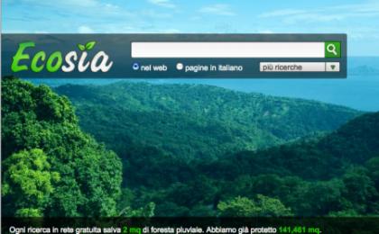 Ecosia: il motore di ricerca che ama la natura