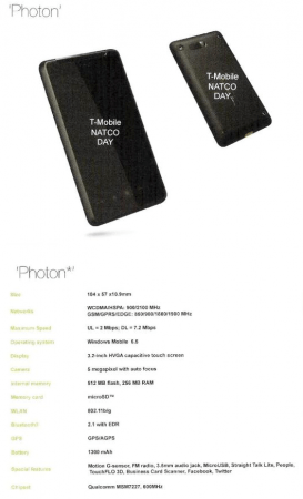 HTC Photon con Windows Mobile 6.5