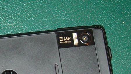 motorola milestone fotocamera