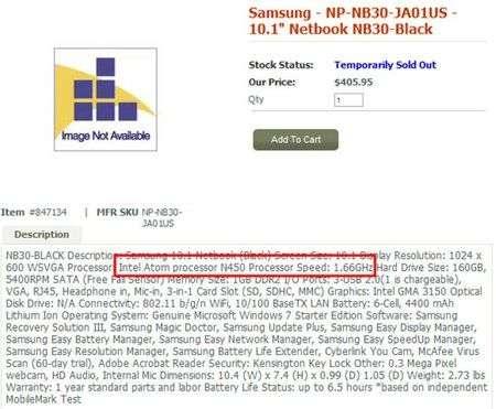 Samsung NB30 e N150