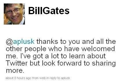 Bill Gates su Twitter per Haiti