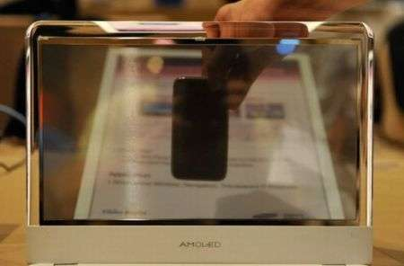 Portatile Samsung con schermo OLED trasparente al CES 2010