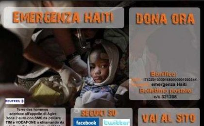 Terremoto Haiti: donazioni online via paypal con Terre des Hommes