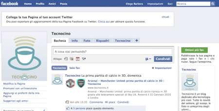 Tecnocino su Facebook e Twitter: diventa fan e follower!