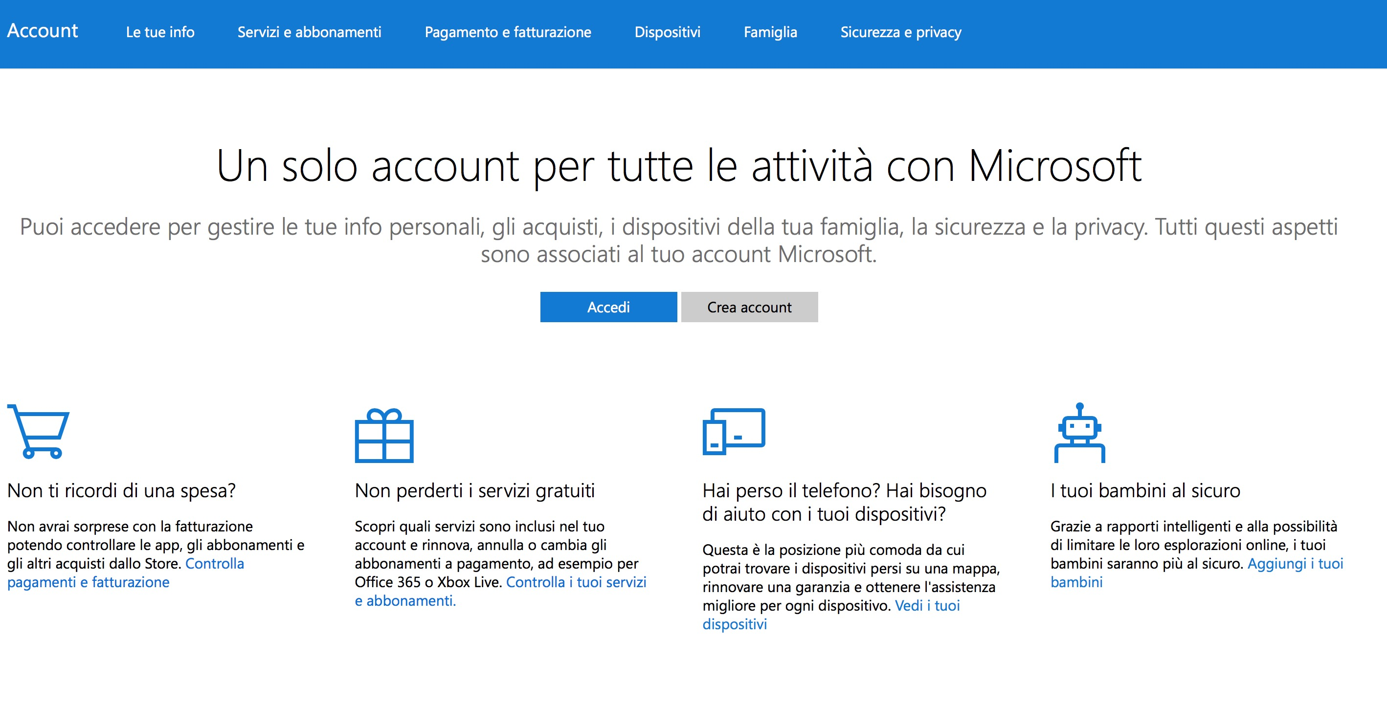 Eliminare account Microsoft