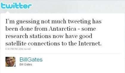 Bill Gates in Antartide