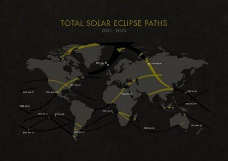Prossime Eclissi Totali di Sole fino al 2025