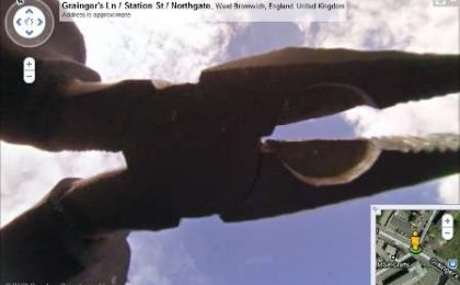 Google Street View e la pinza