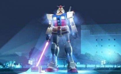 Statua Gundam gigante: ecco la spada laser