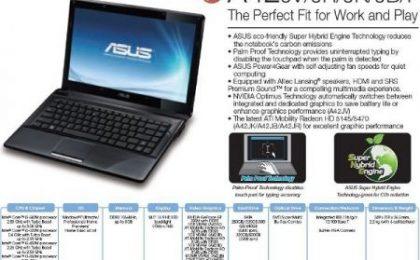 Portatili Asus A42: una serie completa