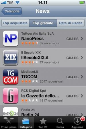 Tecnocino – Nanopress App: in testa alla classifica News gratis su iPhone!