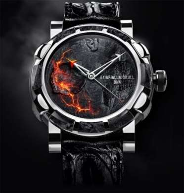 Eyjafjallajökull-DNA: orologio con polvere e rocce del vulcano