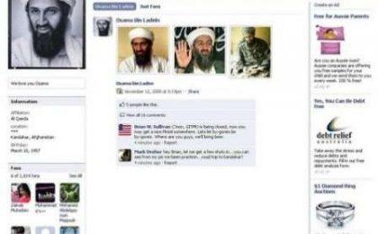 Facebook: pagina Osama Bin Laden subito chiusa