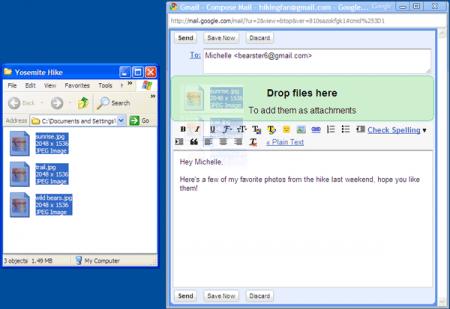 Gmail: via col trascinamento file e Calendar