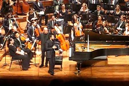 iPad come pianoforte in concerto