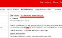 Vodafone: Nexus One esce a Maggio, ecco il prezzo