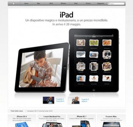 Apple iPad prezzo italiano e uscita ufficiale del tablet