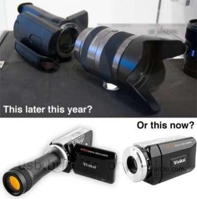 Videocamera con lenti intercambiabili a basso costo? Sì, su Brando