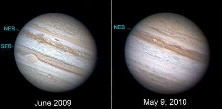 Giove: che fine ha fatto la striscia meridionale del pianeta gigante? La foto