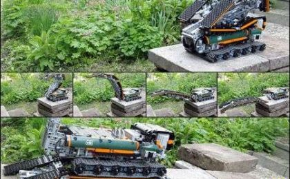 Fantastico Robot LEGO con ponte integrato che supera voragini