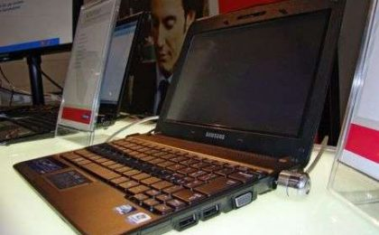 Il nuovo netbook Samsung con schermo tattile
